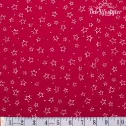 Westfalenstoffe - Trondheim/Thule red with stars
