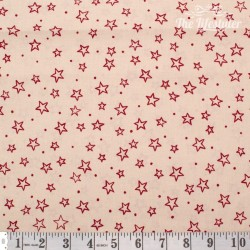 Westfalenstoffe - Trondheim/Thule red stars on cream
