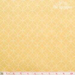Westfalenstoffe - Copenhagen, white circles on yellow