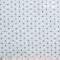Westfalenstoffe - Copenhagen, anthracite stars on white