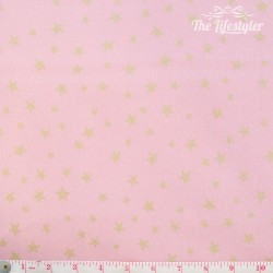 Westfalenstoffe - Noel, golden stars on light pink