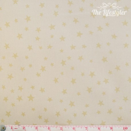 Westfalenstoffe - Noel, golden stars on cream
