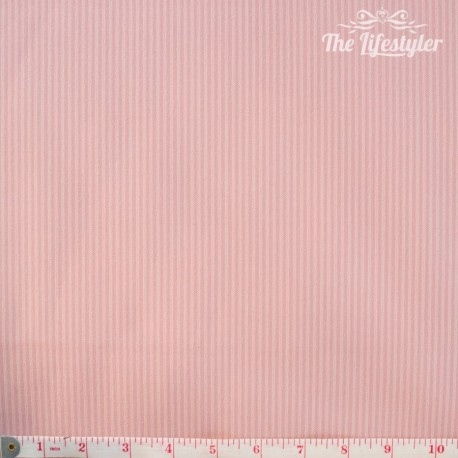 Westfalenstoffe - Noel, woven tiny stripes pink/cream