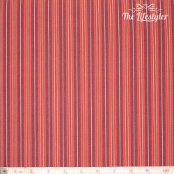Westfalenstoffe - Uppsala, stripes, red and blue