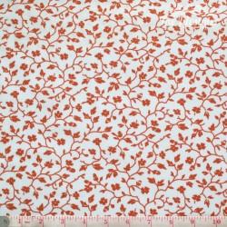 Westfalenstoffe - Uppsala, red flowers on white