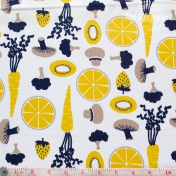 Westfalenstoffe - Kitchen, fruit and veggies, blue
