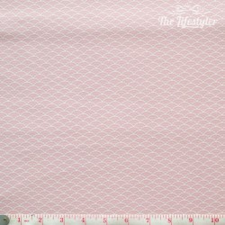 Westfalenstoffe - Kyoto, white clamshells on pink