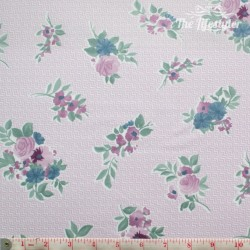 Westfalenstoffe - Cardiff, bouquets on light pink/white zigzag