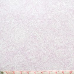 Westfalenstoffe - Cardiff, light pink paisley on white