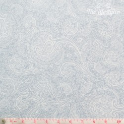 Westfalenstoffe - Cardiff, light blue paisley on white