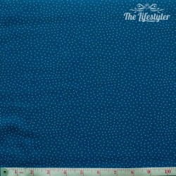Westfalenstoffe - Bangkok, white dotties on blue