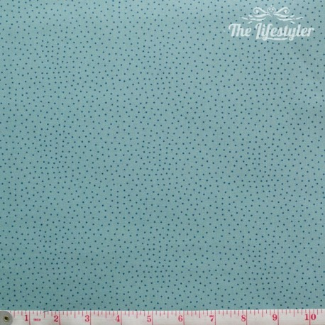 Westfalenstoffe - Bangkok, blue dotties on light green