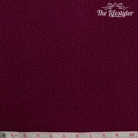 Westfalenstoffe - Bangkok, pink dotties on burgundy
