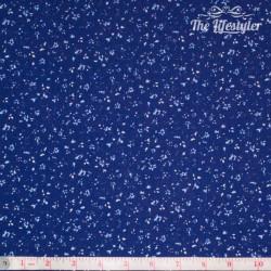 Westfalenstoffe - Delft tiny light blue flowers on dark blue
