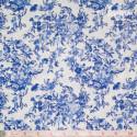 Westfalenstoffe - Delft blue flower bouquets on white