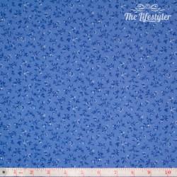 Westfalenstoffe - Delft tiny blue flowers on cornflower blue
