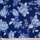 Westfalenstoffe - Delft large blue flowers on dark blue