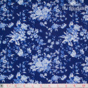 Westfalenstoffe - Delft blue flower bouquets on dark blue