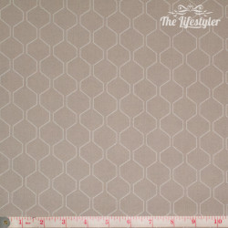 Westfalenstoffe - Kyoto, white honeycomb on light beige
