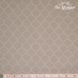 Westfalenstoffe - Kyoto, white honeycomb on light beige