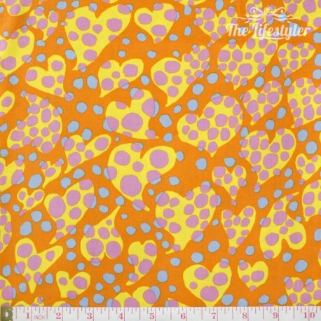 Kaffe Fassett: Brandon Mably for Rowan, Disco Dots orange