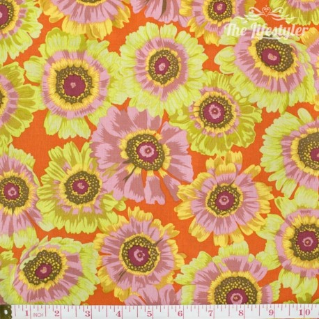 Kaffe Fassett: Phillip Jacobs for Rowan, Painted Daisy citrus