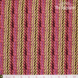 Free Spirit - Bright Heart by Amy Butler, Rhythm Stripe carmel