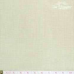 Westfalenstoffe - Gent Lemon, woven tiny Vichy lemon/white/taupe