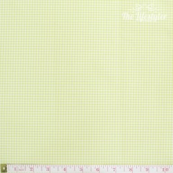 Westfalenstoffe - Gent Lemon, woven tiny Vichy lemon/white