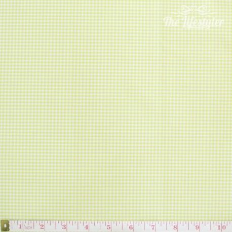 Westfalenstoffe - Gent Lemon, woven tiny Vichy lemon/white