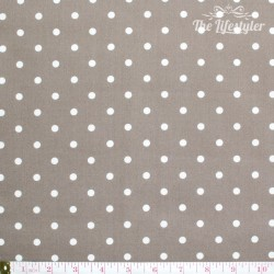 Westfalenstoffe - Gent, big white dots on taupe