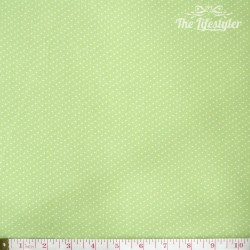 Westfalenstoffe - Capri, tiny white dots on light green