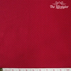 Westfalenstoffe - Capri, tiny white dots on red
