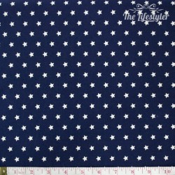 Westfalenstoffe - Capri, white stars on blue