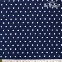 Westfalenstoffe - Capri, white stars on blue
