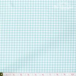 Westfalenstoffe - Capri, woven medium Vichy turquoise/white