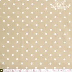 Westfalenstoffe - Lyon, big white dots on light brown