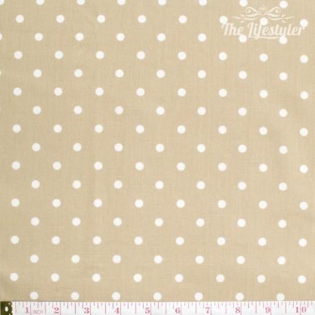 Westfalenstoffe - Lyon, big white dots on light brown