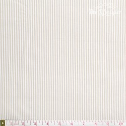Westfalenstoffe - Lyon, woven tiny stripes beige/white