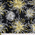 Robert Kaufman - Night & Day, yellow/white flowers on black
