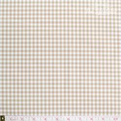 Westfalenstoffe - Lyon, woven medium Vichy beige/white