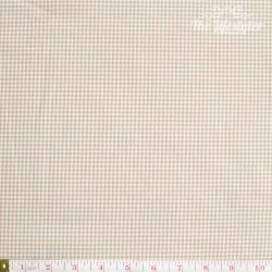Westfalenstoffe - Lyon, woven tiny Vichy beige/white