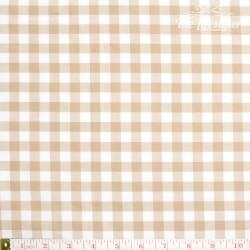 Westfalenstoffe - Lyon, woven big Vichy beige/white