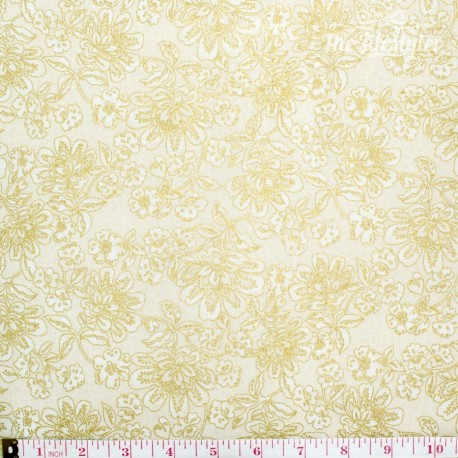 Robert Kaufman La Scala, cream/gold flowers