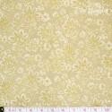 Robert Kaufman - La Scala, beige/gold flowers