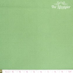 Westfalenstoffe - Wales tiny white dots on green