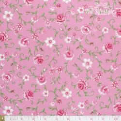 Westfalenstoffe - Wales roses on pink