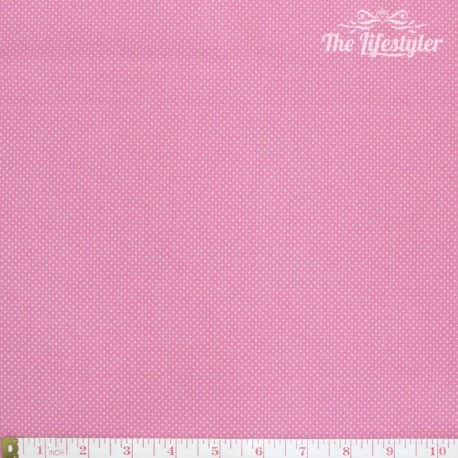 Westfalenstoffe - Wales tiny white dots on pink