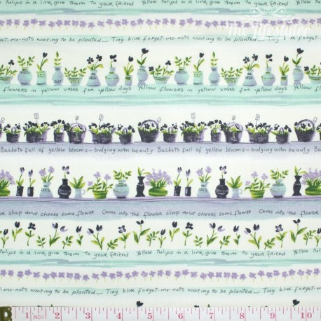 Westfalenstoffe - Provence floral border stripes