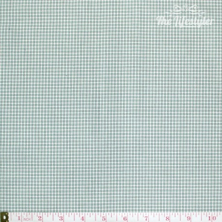 Westfalenstoffe - Provence tiny Vichy mint/grey on white